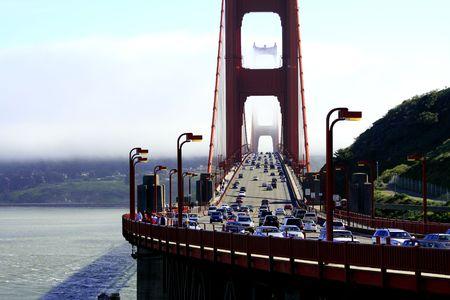 summer time Golden Gate San Francisco california Stock Photo