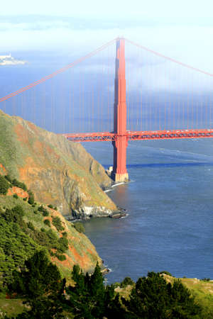 Cloudy Golden Gate San Francisco, california bridge Stock Photo