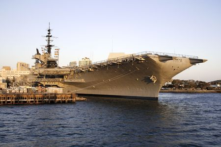 Aircraft Carrier in the dock, San Diego,ca
