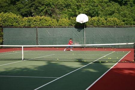 Tennis time Stock Photo