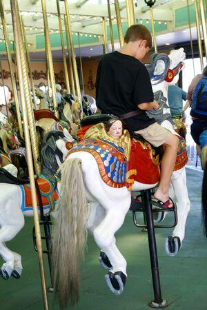 Carrusel de feria Foto de archivo - 1079761