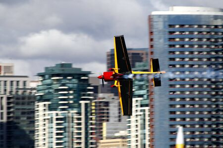 Airrace. San Diego, airplane surfing the sky Stock Photo
