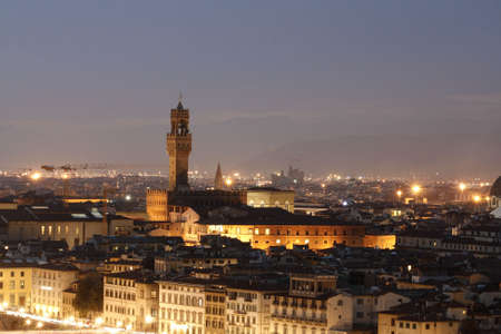 Evening time. View on Florence city. italy.