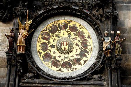 Calendar Of Prague Astronomical Clock. (Prague Orloj) is a medieval astronomical clock dating back to 1410 located in Prague Czech Republic.