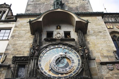 The Prague Astronomical Clock (Prague Orloj) is a medieval astronomical clock dating back to 1410 located in Prague Czech Republic. Banco de Imagens - 1874425