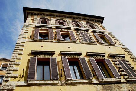 Windows on the building, Siena, Italy