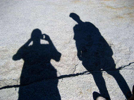Photographers Shadow on the ground