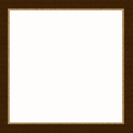 Brown frame, computer generated with white center