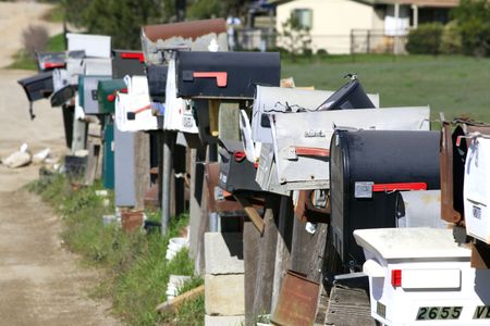 A Letter-boxs of a traditional mail service in california Stock Photo