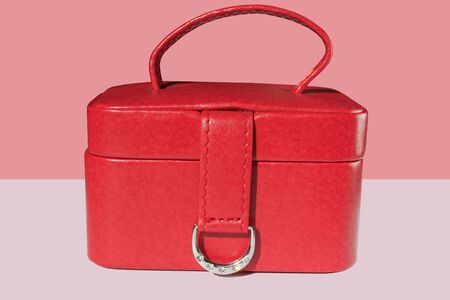 The small red Jewel-box decorated with a ring of diamond plating