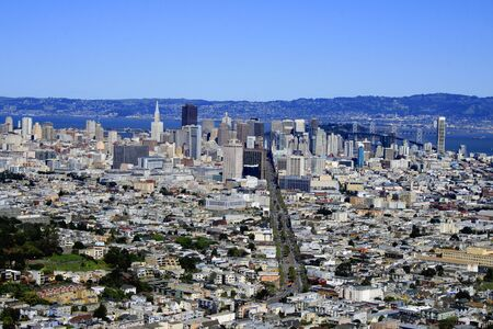 San Francisco downtown view by day. California
