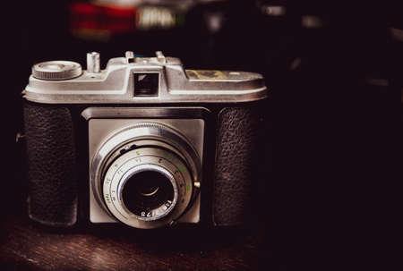 Closeup of old vintage camera Stock fotó