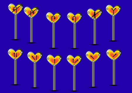 abandon: sign heart symbol vector; illustration background