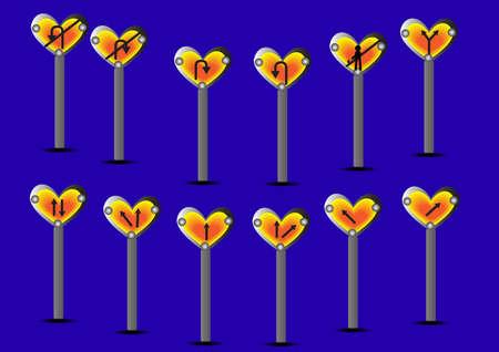 sign heart symbol vector; illustration background