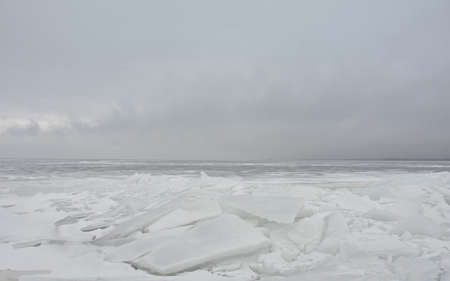 Ice blockage on the sea