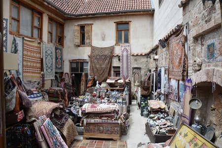 Flea market of antiques in the Turkish city of Antalya