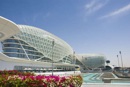Yas Marina - race track in Abu Dhabi, UAE Stock Photo
