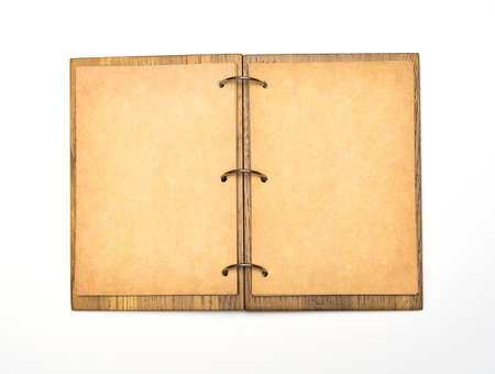 Open Notepad With Sheets Of Parchment And The Word Scrapbook Stock