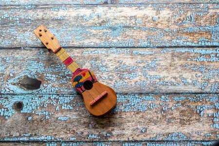 View of a Cuatro Venezuelan, Latin American musical instrument