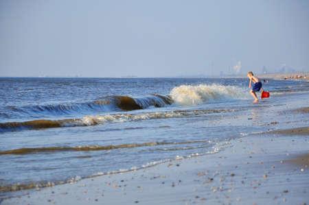 Big blue waves in Zandvoort (Northen Sea in Holland) Stock Photo - 13224175