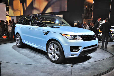 FRANKFURT - SEPT 14: Land Rover Range Rover presented as world premiere at the 65th IAA (Internationale Automobil Ausstellung) on September 14, 2013 in Frankfurt, Germany