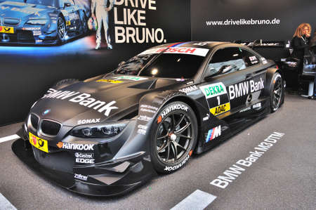 FRANKFURT - SEPT 14: BMW M3 E92 racing edition GT2 presented as world premiere at the 65th IAA (Internationale Automobil Ausstellung) on September 14, 2013 in Frankfurt, Germany Editorial