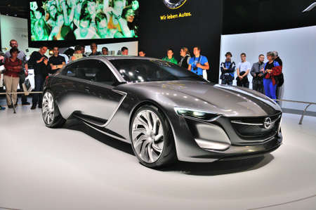 Frankfurt Sept 14 Opel Monza Concept Presented As World Premiere