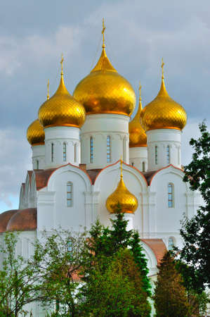 assumption: Assumption Cathedral with golden domes, Yaroslavl, Russia