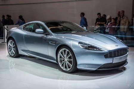 FRANKFURT - 21. September: Aston Martin DB9 präsentiert als Weltpremiere auf der 65. IAA (Internationale Automobil Ausstellung) am 21. September 2013 in Frankfurt am Main, Deutschland Editorial