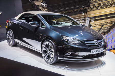 astra: FRANKFURT - SEPT 21: OPEL ASTRA CABRIO presented as world premiere at the 65th IAA (Internationale Automobil Ausstellung) on September 21, 2013 in Frankfurt, Germany