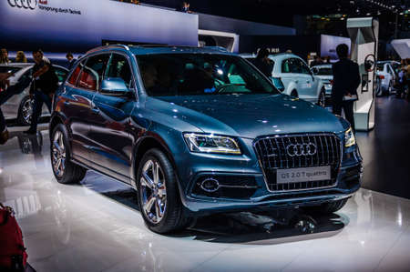 off road racing: MOSCOW, RUSSIA - AUG 2012: AUDI Q5 2.0 T QUATTRO presented as world premiere at the 16th MIAS Moscow International Automobile Salon on August 30, 2012 in Moscow, Russia Editorial