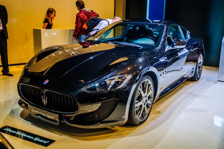 motorshow: MOSCOW, RUSSIA - AUG 2012: MASERATI GRANTURISMO SPORT presented as world premiere at the 16th MIAS Moscow International Automobile Salon on August 30, 2012 in Moscow, Russia Editorial