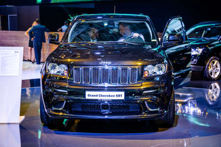 cherokee: MOSCOW, RUSSIA - AUG 2012: JEEP GRAND CHEROKEE SRT presented as world premiere at the 16th MIAS Moscow International Automobile Salon on August 30, 2012 in Moscow, Russia Editorial