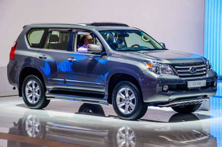 off road racing: MOSCOW, RUSSIA - AUG 2012: LEXUS GX460 presented as world premiere at the 16th MIAS Moscow International Automobile Salon on August 30, 2012 in Moscow, Russia