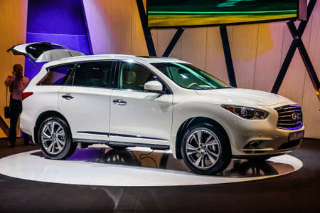 trade off: MOSCOW, RUSSIA - AUG 2012: INFINITI QX60 presented as world premiere at the 16th MIAS Moscow International Automobile Salon on August 30, 2012 in Moscow, Russia
