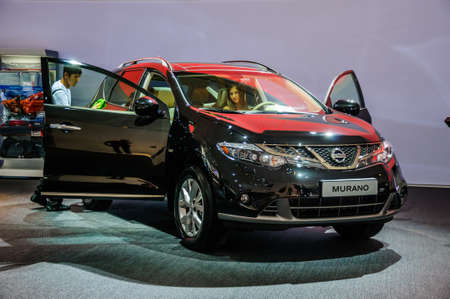 off road racing: MOSCOW, RUSSIA - AUG 2012: NISSAN MURANO 2ND GENERATION presented as world premiere at the 16th MIAS Moscow International Automobile Salon on August 30, 2012 in Moscow, Russia