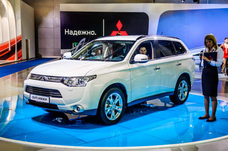MOSCOW, RUSSIA - AUG 2012: MITSUBISHI OUTLANDER 3RD GENERATION presented as world premiere at the 16th MIAS Moscow International Automobile Salon on August 30, 2012 in Moscow, Russia