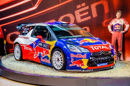 motorshow: MOSCOW, RUSSIA - AUG 2012: CITROEN DS3 WRC presented as world premiere at the 16th MIAS Moscow International Automobile Salon on August 30, 2012 in Moscow, Russia