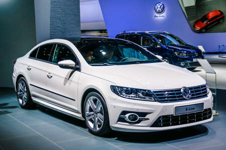 cc: MOSCOW, RUSSIA - AUG 2012: VOLKSWAGEN PASSAT CC presented as world premiere at the 16th MIAS Moscow International Automobile Salon on August 30, 2012 in Moscow, Russia