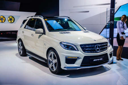 trade off: MOSCOW, RUSSIA - AUG 2012: MERCEDES-BENZ M-CLASS AMG W166 presented as world premiere at the 16th MIAS Moscow International Automobile Salon on August 30, 2012 in Moscow, Russia Editorial