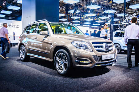 off road racing: MOSCOW, RUSSIA - AUG 2012: MERCEDES-BENZ GLK-CLASS X204 presented as world premiere at the 16th MIAS Moscow International Automobile Salon on August 30, 2012 in Moscow, Russia