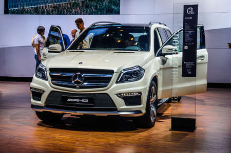 off road racing: MOSCOW, RUSSIA - AUG 2012: MERCEDES-BENZ M-CLASS AMG W166 presented as world premiere at the 16th MIAS Moscow International Automobile Salon on August 30, 2012 in Moscow, Russia Editorial