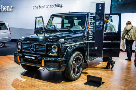 off road racing: MOSCOW, RUSSIA - AUG 2012: MERCEDES-BENZ G-CLASS AMG W463 presented as world premiere at the 16th MIAS Moscow International Automobile Salon on August 30, 2012 in Moscow, Russia Editorial