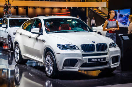 off road racing: MOSCOW, RUSSIA - AUG 2012: BMW X6 M E71 presented as world premiere at the 16th MIAS Moscow International Automobile Salon on August 30, 2012 in Moscow, Russia Editorial