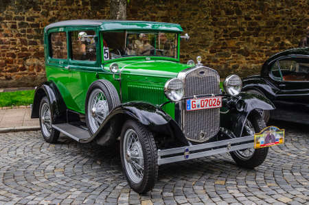 FULDA, GERMANY - MAI 2013: Ford Model A A-Model coupe retro car on Mai 9, 2013 in Fulda, Germany Editorial