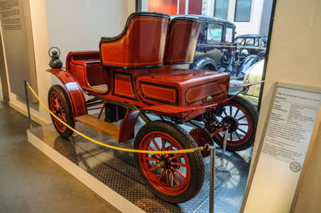 excelsior: DRESDEN, GERMANY - MAI 2015: Excelsior 1904 in Dresden Transport Museum on Mai 25, 2015 in Dresden, Germany