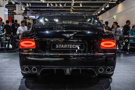spur: FRANKFURT - SEPT 2015: Bentley Flying Spur Startech presented at IAA International Motor Show on September 20, 2015 in Frankfurt, Germany
