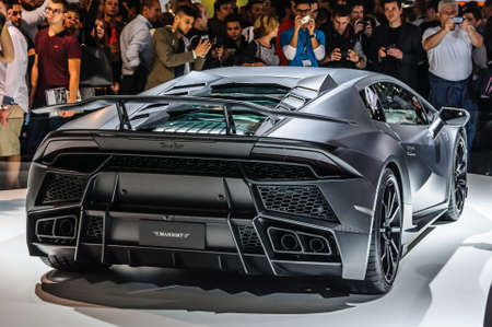 lamborghini: FRANKFURT - SEPT 2015: MANSORY TOROFEO Lamborghini Huracan presented at IAA International Motor Show on September 20, 2015 in Frankfurt, Germany Editorial