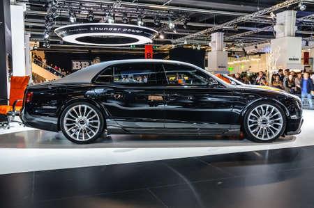 motorshow: FRANKFURT - SEPT 2015: Mansory Bentley Continental GTC presented at IAA International Motor Show on September 20, 2015 in Frankfurt, Germany Editorial