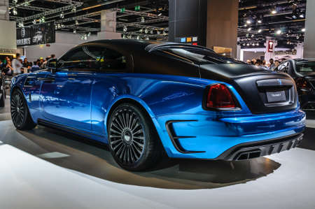 wraith: FRANKFURT - SEPT 2015: MANSORY BLEURION Rolls-Royce Wraith presented at IAA International Motor Show on September 20, 2015 in Frankfurt, Germany